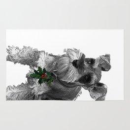 Christmas Schnauzer Rug