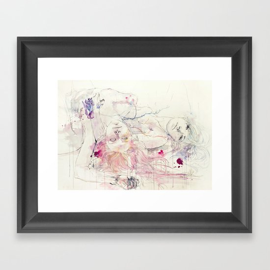in bloom, each growing petal is an internal wound Framed Art Print
