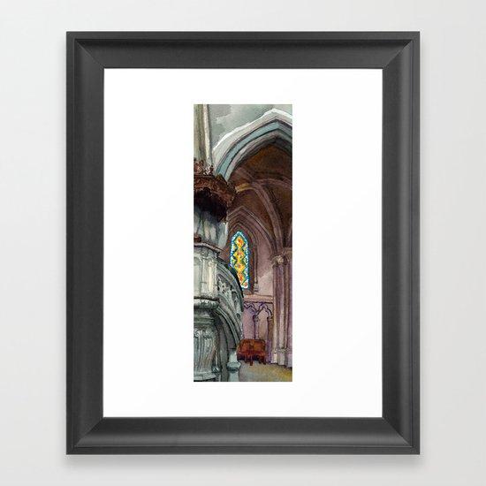 Cathédrale Framed Art Print