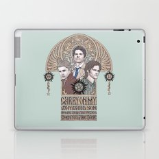 Carry On My Wayward Son (Castiel, Sam and Dean Winchester) Laptop & iPad Skin