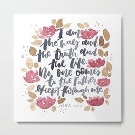 John 14:6 Metal Print