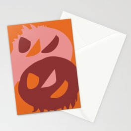 Two little monsters graphic design characters Stationery Cards