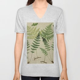 Botanical Ferns Unisex V-Neck