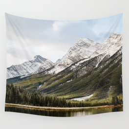 Mountains of Spray Lakes Wall Tapestry