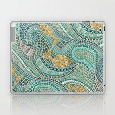 mosaic fish mint Laptop & iPad Skin