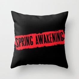 Spring Awakening Logo Throw Pillow
