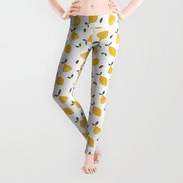 Retro Lemon Digital Print Leggings