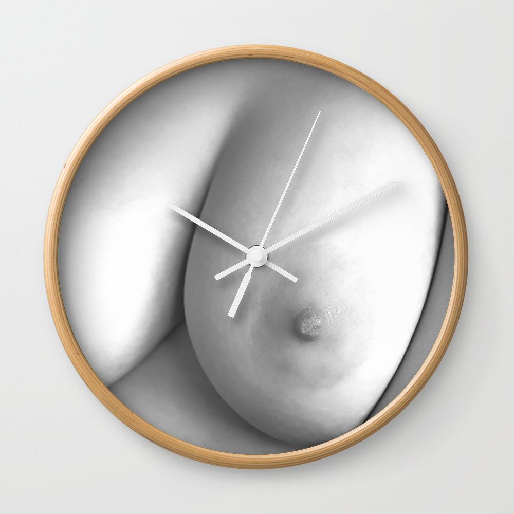 Big Boob Wall Clock By Annsp Society6