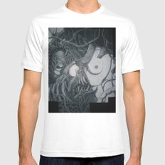 Women Of The Sun (Wrapped Around Fingers) MEDIUM Mens Fitted Tee White