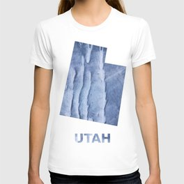Utah map outline Blue watercolor T-shirt