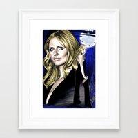 buffy the vampire slayer Framed Art Prints featuring Buffy the Vampire Slayer by odysseyart