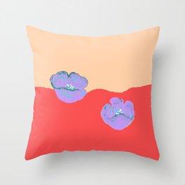Purples poppies S44 Throw Pillow