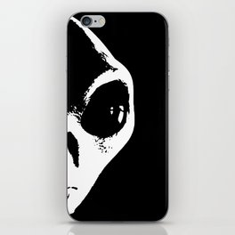 Black and White Alien Face iPhone Skin