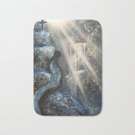 Spray Paint Waterfall Road to the Cross Bath Mat