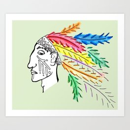Chief'n Art Print