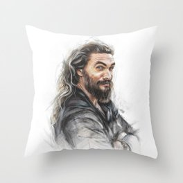 Momoa smile Throw Pillow