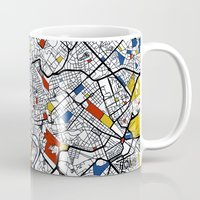 rome Mugs featuring Rome by Mondrian Maps