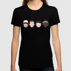 Stranger Things - Best Friends Forever Black MEDIUM Womens Fitted Tee