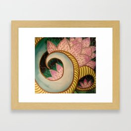 Lotus Path Unfolding Framed Art Print