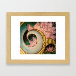 Lotus Path Unfolding Framed Art Print