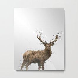 Geometric Drawing of a male deer Metal Print