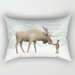 Winter Moose Rectangular Pillow