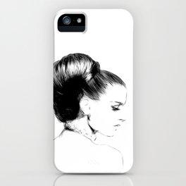 Woman Portrait Fashion Minimal Drawing iPhone Case