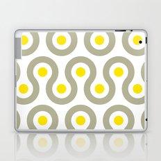 Gray & Yellow Wave Pattern Laptop & iPad Skin