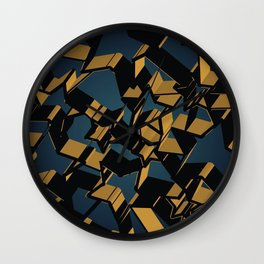 3D Mosaic BG Wall Clock