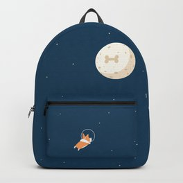 Fly to the moon _ navy blue version Backpack