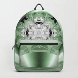Art Deco Hub Cap in Green Backpack