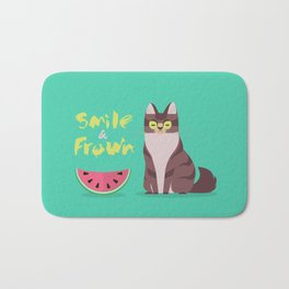 Smile and Frown Bath Mat
