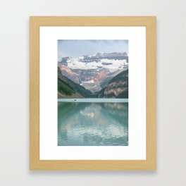 Lake Louise Canoes Framed Art Print