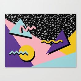 Memphis Pattern 23 - 80s Retro - Pastel Colors Canvas Print
