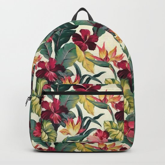 Colorful tropical garden Backpack