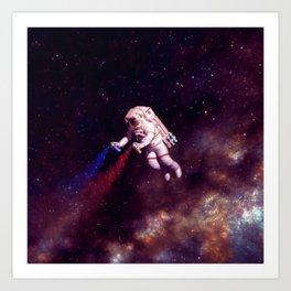 """Shooting Stars"" - Astronaut Artist Art Print"