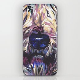 Wheaten Terrier Fun Dog Portrait bright colorful Pop Art Painting by LEA iPhone Skin