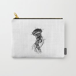 Jellyfish Art Black and White Watercolor Art Gift Ocean Life Carry-All Pouch