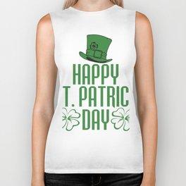 Ireland Dublin Gift Irish Catholic St.Patrick Biker Tank