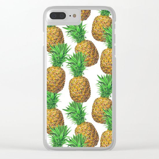 Seamless pattern with pineapples Clear iPhone Case