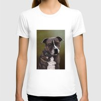 bull terrier T-shirts featuring Staffordshire Bull Terrier by Carl Conway