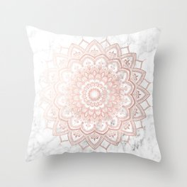 Pleasure Rose Gold Throw Pillow