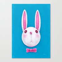 rabbit Canvas Prints featuring Rabbit by Lime