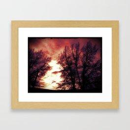 Burning Morning Framed Art Print