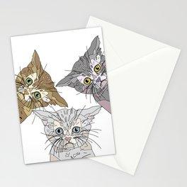 Triple Kitties - Three's Company Stationery Cards