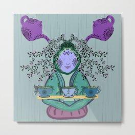Tea Meditation Metal Print