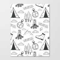 wanderlust Canvas Prints featuring Wanderlust by Tracie Andrews