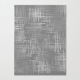 Crosshatch Gray Canvas Print