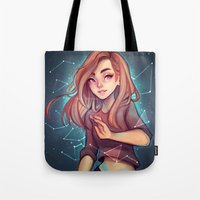 cyarin Tote Bags featuring Constellations by Cyarin