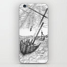 Underwater Scene Ink Drawing iPhone Skin
